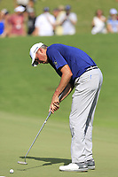 Matt Kuchar (USA) takes his putt on the 18th green during Saturday's Round 3 of the 2017 PGA Championship held at Quail Hollow Golf Club, Charlotte, North Carolina, USA. 12th August 2017.<br /> Picture: Eoin Clarke | Golffile<br /> <br /> <br /> All photos usage must carry mandatory copyright credit (&copy; Golffile | Eoin Clarke)