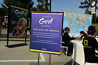 """LOS ANGELES - JUNE 2: """"The Story of God"""" activation is seen at National Geographic's Contenders Showcase, at The Greek Theatre, a one-of-a-kind outdoor experience and concert celebrating the talent behind the scenes of National Geographic 2019 Emmy contenders, on June 2, 2019 in Los Angeles, California. (Photo by Vince Bucci/National Geographic/PictureGroup)"""