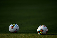 Two balls are seen on the pitch prior to the Serie A football match between Parma Calcio and Atalanta BC at Ennio Tardini stadium in Parma (Italy), July 28th, 2020. Play resumes behind closed doors following the outbreak of the coronavirus disease. Photo Andrea Staccioli / Insidefoto