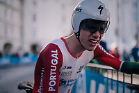 Joao Almeida (POR)<br /> <br /> MEN UNDER 23 INDIVIDUAL TIME TRIAL<br /> Hall-Wattens to Innsbruck: 27.8 km<br /> <br /> UCI 2018 Road World Championships<br /> Innsbruck - Tirol / Austria