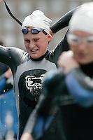 30 JUN 2007 - COPENHAGEN, DEN - Abbie Thorrington (GBR) heads for T1 - European Elite Womens Triathlon Championships. (PHOTO (C) NIGEL FARROW)