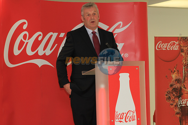 Fergus O'Dowd TD at the Official Opening of Coca Cola Global Business Services Finance Operation for Europe and Eurasia in Southgate Shopping Centre 28/10/11..(Photo credit should read Jenny Matthews www.newsfile.ie)....This Picture has been sent you under the conditions enclosed by:.Newsfile Ltd..The Studio,.Millmount Abbey,.Drogheda,.Co Meath..Ireland..Tel: +353(0)41-9871240.Fax: +353(0)41-9871260.GSM: +353(0)86-2500958.email: pictures@newsfile.ie.www.newsfile.ie.