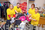 Getting ready for a major jumble sale in the Brandon Hotel on XXX for Enable Ireland Kerry branch were:<br /> Emma Kelly, Sean Scally, Catherine Hussey (Store Manager) and Catriona Dunne (Asst. Manager). Getting ready for a major Enable Ireland Christmas Bazaar in the Brandon Hotel on December 14th were:<br />