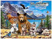 Howard, REALISTIC ANIMALS, REALISTISCHE TIERE, ANIMALES REALISTICOS, paintings+++++Glacier poster,GBHRPROV120,#A# ,puzzles