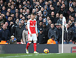 Tottenham's fans give abuse to Arsenal's Mesut Ozil during the Premier League match at the Emirates Stadium, London. Picture date November 6th, 2016 Pic David Klein/Sportimage
