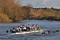 021 .CHB-O Neill .IM2.8+ .Christ Church. Wallingford Head of the River. Sunday 27 November 2011. 4250 metres upstream on the Thames from Moulsford railway bridge to Oxford Universitiy's Fleming Boathouse in Wallingford. Event run by Wallingford Rowing Club..