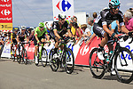 The peloton including Bernhard Eisel (AUT) Team Dimension Data summit the Cat 3 climb of Cote d'Eschdorf during Stage 3 of the 104th edition of the Tour de France 2017, running 212.5km from Verviers, Belgium to Longwy, France. 3rd July 2017.<br /> Picture: Eoin Clarke | Cyclefile<br /> <br /> All photos usage must carry mandatory copyright credit (&copy; Cyclefile | Eoin Clarke)