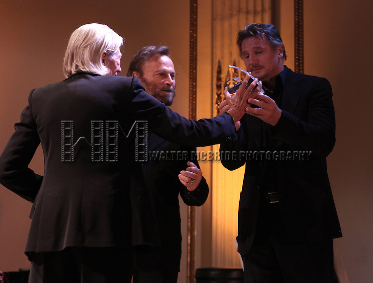Vanessa Redgrave, Franco Nero & Liam Neeson attending the American Theatre Wing's annual gala at the Plaza Hotel on Monday Sept. 24, 2012 in New York.
