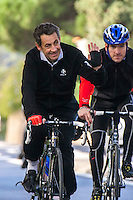 Nicolas Sarkozy & Louis Sarkozy enjoying some family vacation in Cap Nègre - France