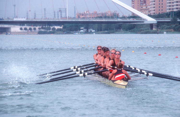 Rowing, US women's eight, FISA World Rowing Championships, Seville, Spain, 2002, Gold Medal, World Champions, .