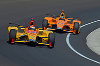 Verizon IndyCar Series<br /> Indianapolis 500 Carb Day<br /> Indianapolis Motor Speedway, Indianapolis, IN USA<br /> Friday 26 May 2017<br /> Ryan Hunter-Reay, Andretti Autosport Honda, Fernando Alonso, McLaren-Honda-Andretti Honda<br /> World Copyright: F. Peirce Williams