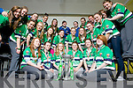 Rugby players from Colaiste Ide agus Iosef pictured last Monday with the RBS Ladies Grand Slam trophy