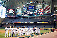 Rice Anthem 3768 (Andrew Woolley).jpg. NCAA baseball, Houston College Classic. Baylor Bears vs Rice Owls. Minute Maid Park. March 1st, 2009 in Houston, Texas. Photo by Andrew Woolley.