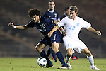 02 October 2012: Georgia Southern's Drew Ruggles (20) and UNC's Andy Craven (10). The University of North Carolina Tar Heels defeated the Georgia Southern Eagles 2-0 at Fetzer Field in Chapel Hill, North Carolina in a 2012 NCAA Division I Men's Soccer game.