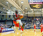 Stony Brook defeats UAlbany  69-60 in the America East Conference tournament quaterfinals at the  SEFCU Arena, Mar. 3, 2018.  Tyrell Sturdivant (#12) for a layup.