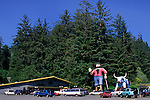 Statue of Paul Bunyan and Babe the Blue Ox, Trees of Mystery, Del Norte County, California