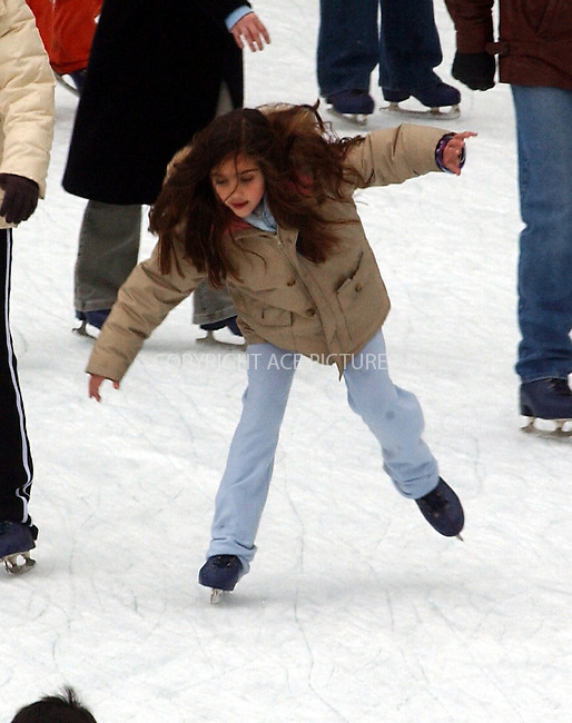 *** EXCLUSIVE *** *** FEE MUST BE AGREED ***....Madonna's daughter, Lourdes, has been spotted skating in Central Park while her nanny looked-on from the side of the ice rink. Lourdes was seen sprinting, dancing and even making new friends. New York, February 23, 2004. Please byline: ACE Pictures.   ....*PAY-PER-USE*      ....IMPORTANT: Please note that our old trade name, NEW YORK PHOTO PRESS (NYPP), is replaced by our new name, ACE PICTURES. New York Photo Press and ACE Pictures are owned by All Celebrity Entertainment, Inc.......All Celebrity Entertainment, Inc:  ..contact: Alecsey Boldeskul (646) 267-6913 ..Philip Vaughan (646) 769-0430..e-mail: info@nyphotopress.com