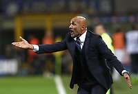 Calcio, Serie A: Inter Milano - AC Milan , Giuseppe Meazza stadium, .October 21, 2018.<br /> Inter's coach Luciano Spalletti speaks to his players during the Italian Serie A football match between Inter and Milan at Giuseppe Meazza (San Siro) stadium, October 21, 2018.<br /> UPDATE IMAGES PRESS/Isabella Bonotto