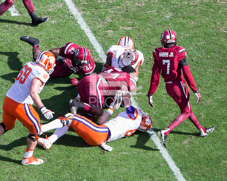 COLUMBIA, SOUTH CAROLINA - November 28, 2015: University of South Carolina Gamecocks play the number 1 ranked Clemson Tigers at Williams-Brice Stadium.  Final score Clemson 37, University of South Carolina 32.