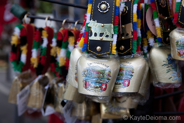 Souvenir cowbells in Geneva, Switzerland