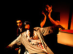 INTO THE MYSTIC by Wolf;<br /> Jeni Draper;<br /> Amit Sharma;<br /> Pamela Mungroo;<br /> Directed by Sealey;<br /> Graeae Theatre Company;<br /> at Riverside Studios, London, UK;<br /> 2 February 2001;<br /> Credit: Patrick Baldwin;