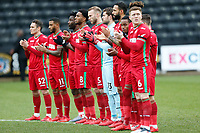 Players observe a Minutes Applause prior to kick off during The Emirates FA Cup match between Notts County and Swansea City at Meadow Lane, Nottingham, England, UK. Saturday 27 January 2018