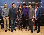 "The American Son team: playwright Christopher Demos-Brown, cast members Steven Pasquale, Kerry Washington, Eugene Lee, and Jeremy Jordan, and director Kenny Leon attend the Cast photo call for the New Broadway Play ""American Son"" on September 14, 2018 at the New 42nd Street Studios in New York City."