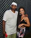 MIAMI, FL - JULY 25: Mike Gardner and  Mýa backstage during the Overtown Music and Arts Festival at the historic Overtown district of Miami on Saturday July 25, 2015 in Miami, Florida. ( Photo by Johnny Louis / jlnphotography.com )