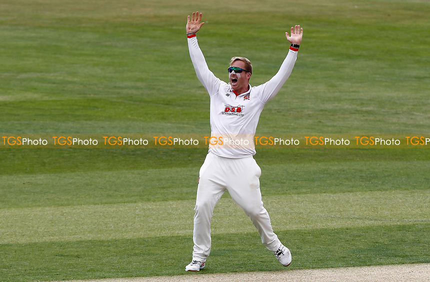 Simon Harmer of Essex appeals for a wicket off his own bowling during Essex CCC vs Kent CCC, Bob Willis Trophy Cricket at The Cloudfm County Ground on 1st August 2020