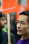 Strangers into Citizens rally in Chinatown, London, to demand an amnesty for migrant workers without papers, and an end to curbs on work permits.