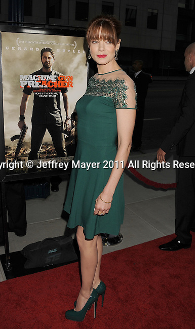 """BEVERLY HILLS, CA - SEPTEMBER 21: Michelle Monaghan  attends the """"Machine Gun Preacher"""" Los Angeles Premiere at the Academy of Television Arts & Sciences on September 21, 2011 in Beverly Hills, California."""