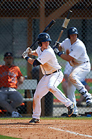Detroit Tigers Jared Reaves (14) during a minor league Spring Training game against the Houston Astros on March 30, 2016 at Tigertown in Lakeland, Florida.  (Mike Janes/Four Seam Images)