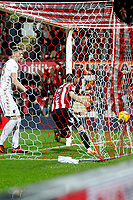 during the Sky Bet Championship match between Brentford and Leeds United at Griffin Park, London, England on 4 November 2017. Photo by Carlton Myrie.