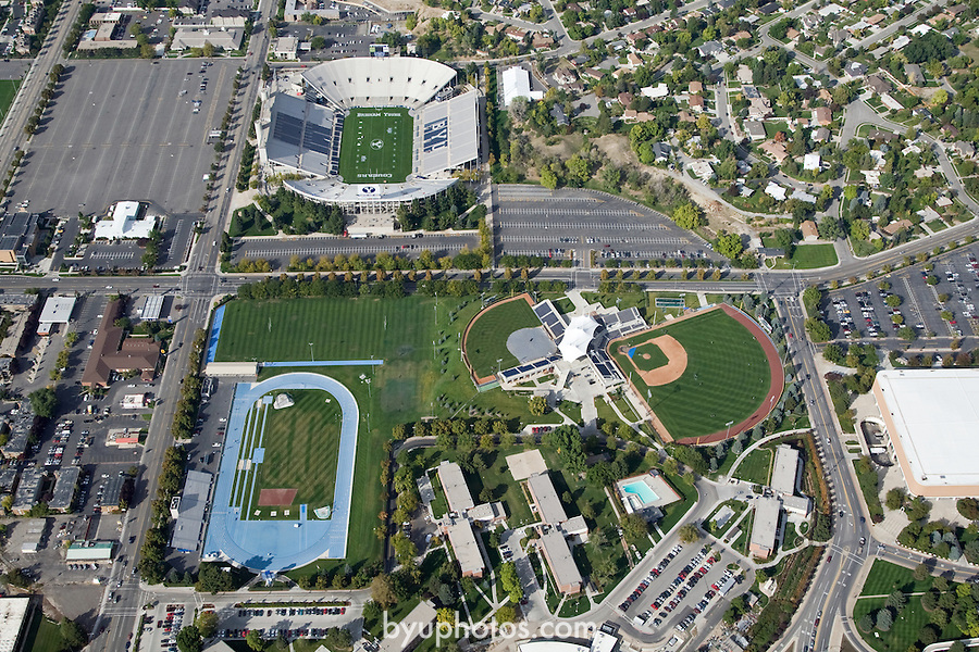 Aerials of Athletic facilities.FTB Football Stadium, SFT Softball and BSB Baseball fields, Track..October 9, 2008..Photography by Mark A. Philbrick..Copyright BYU Photo 2008.All Rights Reserved .photo@byu.edu  (801)422-7322