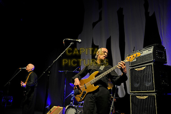 LONDON, ENGLAND - March 28: Wilko Johnson and Norman Watt-Roy of Wilko Johnson Band perform in concert at the Eventim Apollo on March 28, 2014 in London, England<br /> CAP/MAR<br /> &copy; Martin Harris/Capital Pictures
