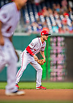 22 September 2018: Washington Nationals shortstop Trea Turner in action against the New York Mets at Nationals Park in Washington, DC. The Nationals shut out the Mets 6-0 in the 3rd game of their 4-game series. Mandatory Credit: Ed Wolfstein Photo *** RAW (NEF) Image File Available ***