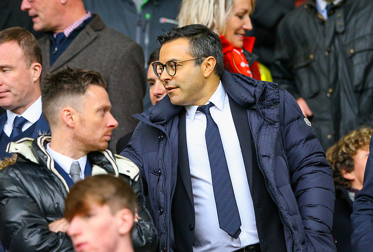Leeds United owner and chairman Andrea Radrizzani takes his seat<br /> <br /> Photographer Alex Dodd/CameraSport<br /> <br /> The EFL Sky Bet Championship - Sheffield United v Leeds United - Saturday 1st December 2018 - Bramall Lane - Sheffield<br /> <br /> World Copyright © 2018 CameraSport. All rights reserved. 43 Linden Ave. Countesthorpe. Leicester. England. LE8 5PG - Tel: +44 (0) 116 277 4147 - admin@camerasport.com - www.camerasport.com