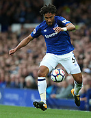 1st October 2017, Goodison Park, Liverpool, England; EPL Premier League Football, Everton versus Burnley; Ashley Williams of Everton controls the ball near the touchline