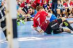 Peshevski, Zarko (TVB Stuttgart #44) / Leenders, Toon (HSG Nordhorn-Lingen #7) / TVB 1898 Stuttgart - HSG Nordhorn Lingen / HBL / LIQUI MOLY 1.Handball-BundesligaSCHARRena / Stuttgart Baden-Wuerttemberg / Deutschland <br /> <br /> Foto © PIX-Sportfotos *** Foto ist honorarpflichtig! *** Auf Anfrage in hoeherer Qualitaet/Aufloesung. Belegexemplar erbeten. Veroeffentlichung ausschliesslich fuer journalistisch-publizistische Zwecke. For editorial use only.