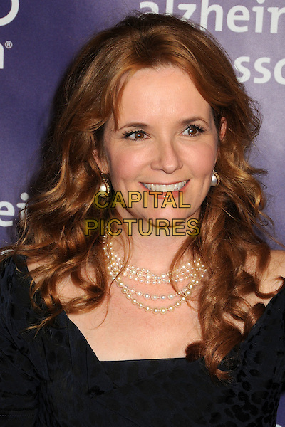 "LEA THOMPSON .19th Annual ""A Night at Sardi's"" Benefiting the Alzheimer's Association held at the Beverly Hilton Hotel, Beverly Hills, California, USA, 16th March 2011..portrait headshot smiling black  pearl necklace pearls  .CAP/ADM/BP.©Byron Purvis/AdMedia/Capital Pictures."