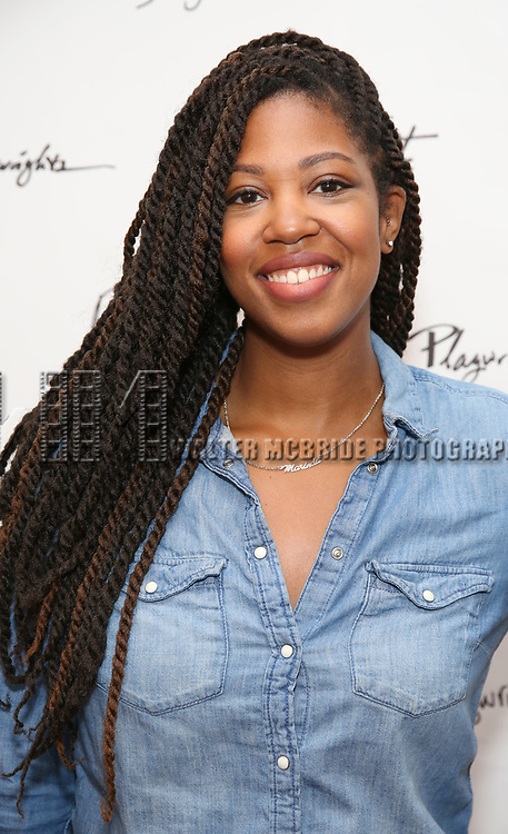 Marinda Anderson during the first day of rehearsals for the Playwrights Horizons production of 'The Treasurer' on August 1, 2017 at the Playwrights rehearsal studio in New York City.