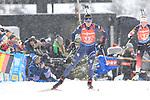 14/12/2019, Hochfilzen, Austria. Biathlon World Cup IBU 2019 Hochfilzen.<br /> Women 4x6 km Relay race, Lisa Vittozzi