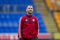 24th November 2019; McDairmid Park, Perth, Perth and Kinross, Scotland; Scottish Premiership Football, St Johnstone versus Aberdeen; Niall McGinn of Aberdeen inspects the pitch before the match - Editorial Use