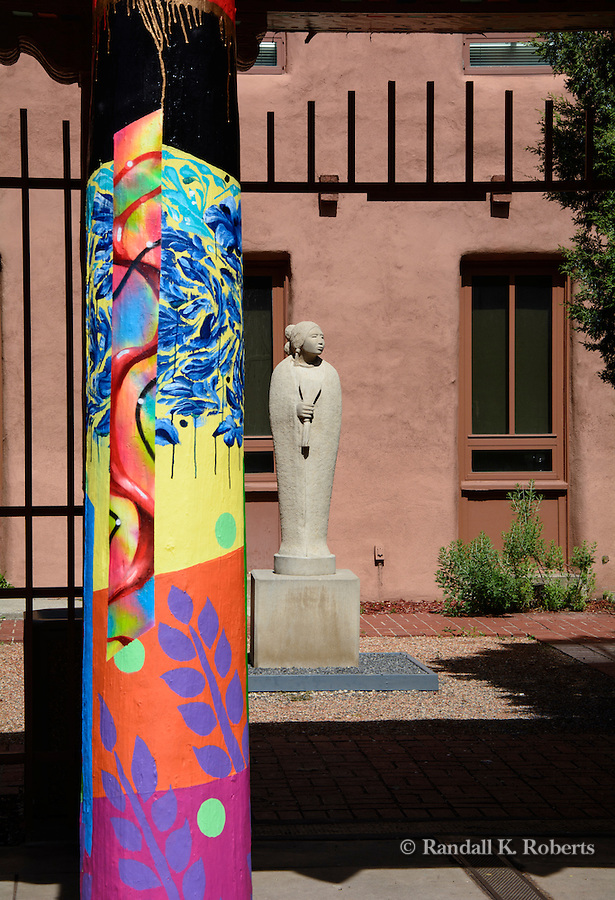 Sculpture outside the Museum of Native Arts, Santa Fe, New Mexico