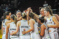 20191114 - CHARLEROI , BELGIUM : Belgian Cats pictured during a female basketball match between the Belgian national team Belgian Cats and Ukraine , a first qualification game for the Belgian Cats in Group G towards the Women's European Eurobasket Basketball Championships 2021 in Lyon, Paris and Valencia, on Thursday 14 th November in the Dome in Charleroi , Belgium . PHOTO SPORTPIX | STIJN AUDOOREN