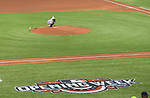 Masahiro Tanaka (Yankees),<br /> APRIL 2, 2016 - MLB :<br /> New York Yankees starting pitcher Masahiro Tanaka touches the pitcher's plate before delivering the first pitch in the first inning during the opening day of the Major League Baseball game against the Tampa Bay Rays at Tropicana Field in St. Petersburg, Florida, United States. (Photo by AFLO)