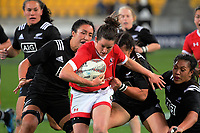 Elissa Alarie in action during the 2017 International Women's Rugby Series rugby match between the NZ Black Ferns and Canada at Westpac Stadium in Wellington, New Zealand on Friday, 9 June 2017. Photo: Dave Lintott / lintottphoto.co.nz