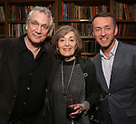 Rick Elice, Nancy Ford and Andrew Lippa attend the Dramatists Guild Fund Salon With Rick Elice at the Cornell Club on March 6, 2017 in New York City.