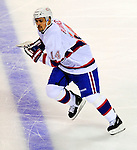 15 November 2008:  Montreal Canadiens' center Tomas Plekanec from the Czech Republic skates up ice against the Philadelphia Flyers in the first period at the Bell Centre in Montreal, Quebec, Canada.  The Canadiens, celebrating their 100th season, fell to the visiting Flyers 2-1. ***Editorial Sales Only***..Mandatory Photo Credit: Ed Wolfstein Photo *** Editorial Sales through Icon Sports Media *** www.iconsportsmedia.com