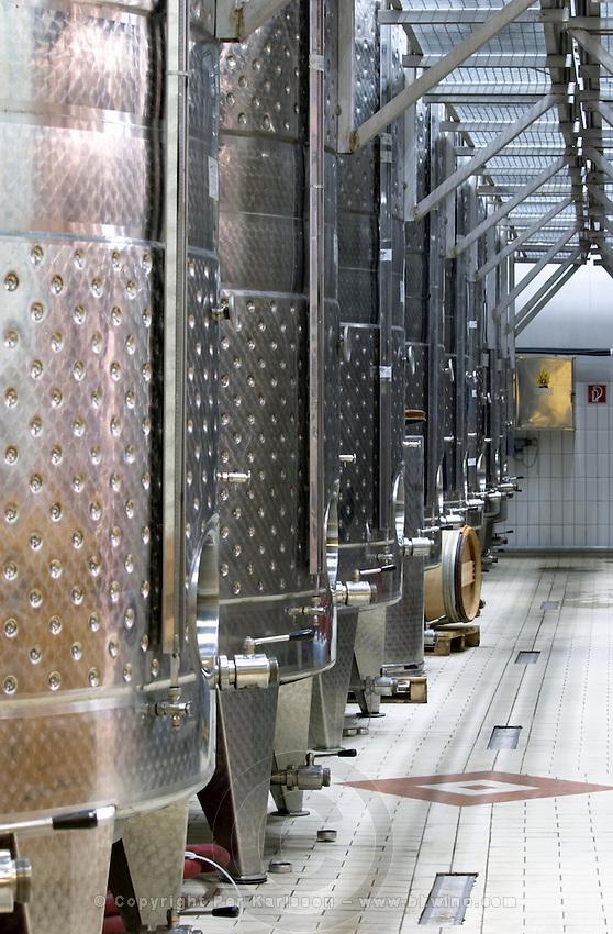 Fermentation tanks. Domaine Gerovassiliou, Epanomi, Macedonia, Greece.